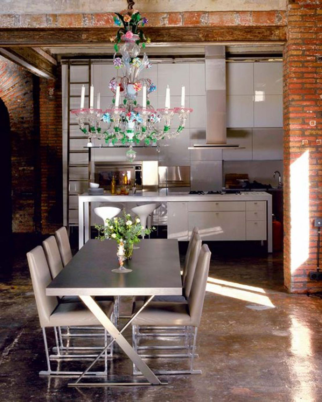 Modern Loft with Industrial Bricks Element for Apartment ...